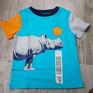NEW Falls Creek Rhino Basketball tshirt
